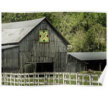 Kentucky Barn Quilt - 3 Poster