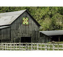 Kentucky Barn Quilt - 3 Photographic Print