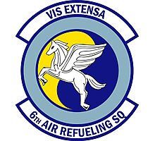 6th Air Refueling Squadron - Vis Extensa - Strength Extended Photographic Print