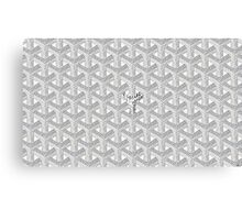 Goyard Perfect Case white Canvas Print