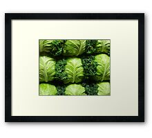 Vegging Out Framed Print