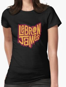 lebron the king james Womens Fitted T-Shirt