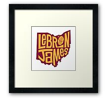 lebron the king james Framed Print