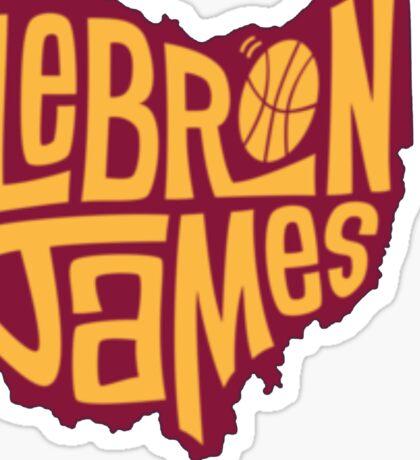 lebron the king james Sticker