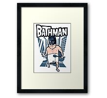 The Bathman (Incredible super hero with washing superpowers) Framed Print