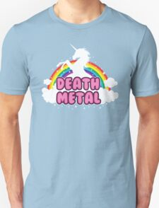 DEATH metal parody funny unicorn rainbow  Unisex T-Shirt