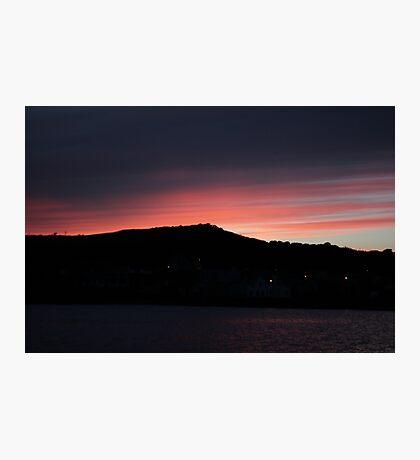 Twilight Sky: Coastal Sunset, Ireland Photographic Print