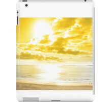 panorama of a Beautiful yellow sun over the Ballybunion beach iPad Case/Skin