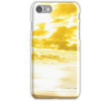 panorama of a Beautiful yellow sun over the Ballybunion beach iPhone Case/Skin