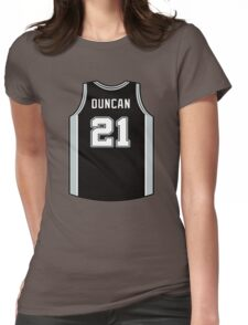 DUNCAN IS SPURS Womens Fitted T-Shirt