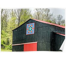 Kentucky Barn Quilt - 2 Poster