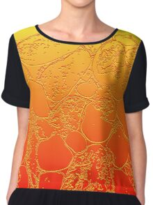 Amber Crackle Chiffon Top