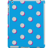 Quirky pattern, spot and pink on blue.  iPad Case/Skin