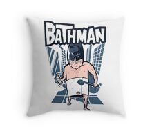 The Bathman (Incredible super hero with washing superpowers) Throw Pillow
