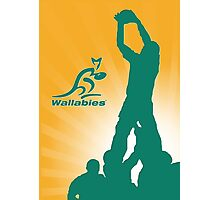 WALLABIES RUGBY Photographic Print