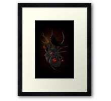 Coal My Heart Framed Print