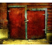 Vincent's Red Barn Doors Photographic Print