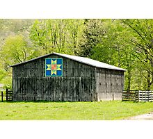 Kentucky Barn Quilt - Eight-Pointed Star Photographic Print