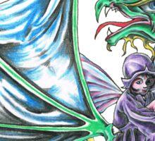 Fairy and dragon RH Sticker