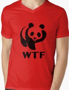 WWF WTF Bear  Mens V-Neck T-Shirt