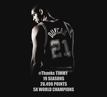 TIM DUNCAN T-SHIRT FAREWELL TIMMY SPURS SHIRT LEGEND GOAT TEE Unisex T-Shirt