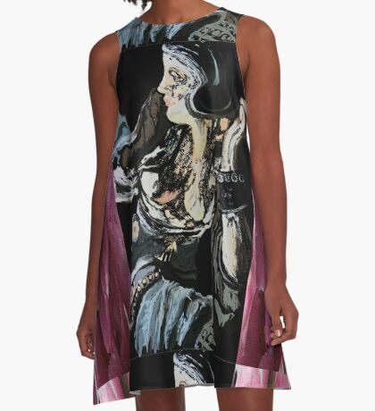 the big woman abstract A-Line Dress