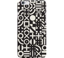Black and White Irregular Geometric Pattern iPhone Case/Skin