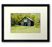 Kentucky Barn Quilt - Darting Minnows Framed Print