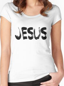 Jesus Women's Fitted Scoop T-Shirt