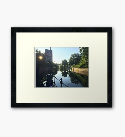 Liable to Flooding Framed Print