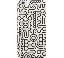 Black And White Geometric Doodle Pattern iPhone Case/Skin