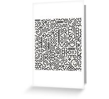 Black And White Geometric Doodle Pattern Greeting Card