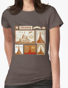 France Womens Fitted T-Shirt