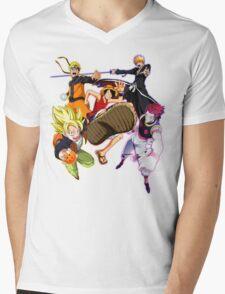 Composition anime2! Mens V-Neck T-Shirt