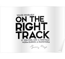 you're probably on the right track - larry page Poster
