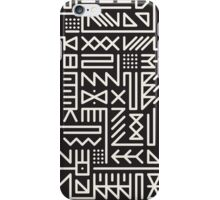 Black And White Rounded Line Geometric Hipster Signs Pattern iPhone Case/Skin