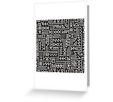 Black And White Rounded Line Geometric Hipster Signs Pattern Greeting Card