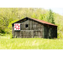 Kentucky Barn Quilt - Flying Geese Photographic Print