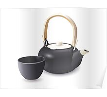 Oriental Teapot Set Poster