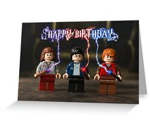 Harry Potter (Harry, Ron & Hermione) themed Birthday Card Greeting Card