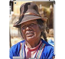 Wrinkled Smile, Hat & Braids iPad Case/Skin