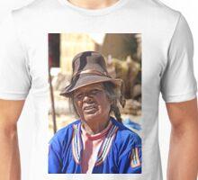 Wrinkled Smile, Hat & Braids Unisex T-Shirt