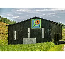 Kentucky Barn Quilt - Flower of Friendship Photographic Print
