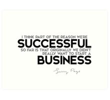 successful business - larry page Art Print