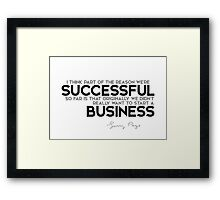successful business - larry page Framed Print