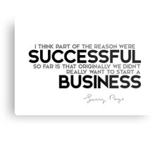 successful business - larry page Metal Print