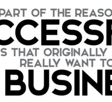 successful business - larry page Sticker