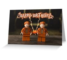 Harry Potter (Fred & George) themed Birthday Card Greeting Card