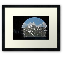 Exiting Now Framed Print