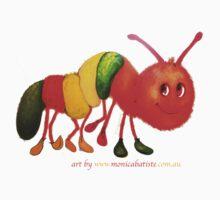 Happy Caterpillar  One Piece - Short Sleeve
